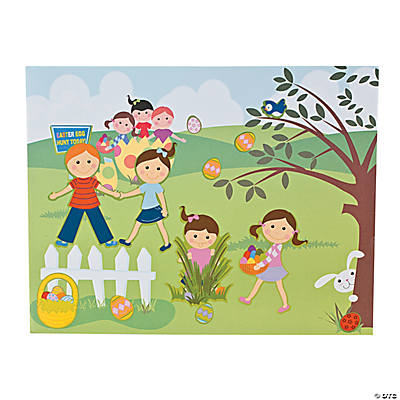 Make-An-Easter Egg Hunt Sticker Scenes