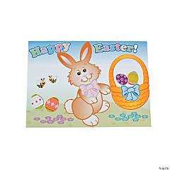 Make-An-Easter Bunny Sticker Scenes
