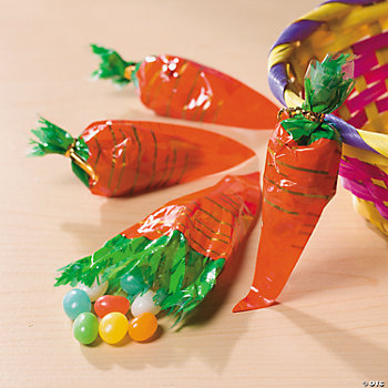 Carrot-Shaped Bags of Jelly Beans