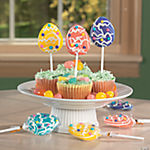 Easter Egg-Shaped Swirl Pops