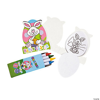 Mini Easter Die Cut Activity Pad & Crayon Sets