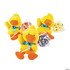 Plush Chicks With Egg-Shaped Swirl Pop