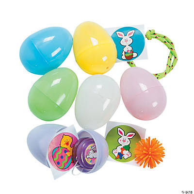 Toy-Filled Pastel Easter Eggs
