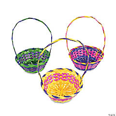 Multicolor Round Baskets