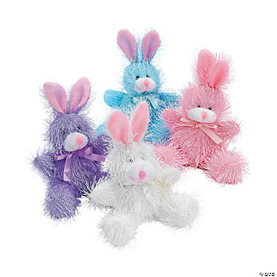 Plush Pastel Furry Bunnies