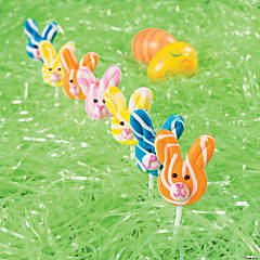 Bunny-Shaped Swirl Pops