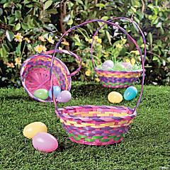 Rainbow Effect Easter Baskets