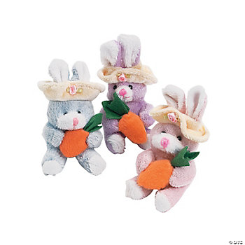 Plush Suede-Like Springtime Bunnies