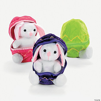 Plush Bunnies In Plush Eggs