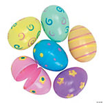 12 Jumbo Pastel Printed Easter Eggs