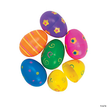 Jumbo Bright Printed Easter Eggs