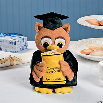 Plush Graduation Owl Money Holder