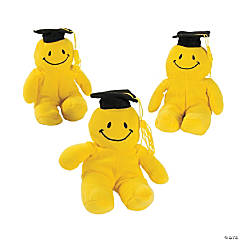 Plush Graduation Smile Face Bean Bags