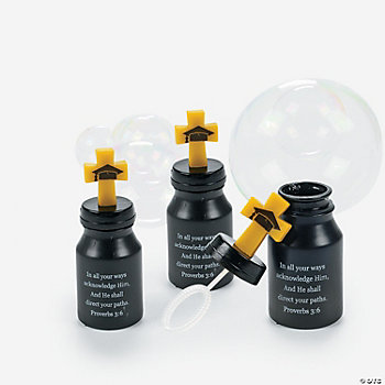 Inspirational Graduation Bubble Bottles