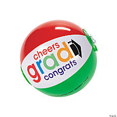 "Inflatable Mini Bright ""Cheers To The Grad"" Beach Balls"