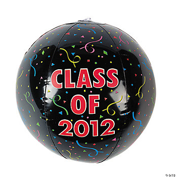 "Inflatable ""Class Of 2012"" Beach Balls"