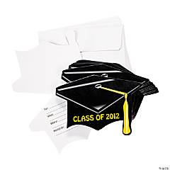 """Class Of 2012"" Mortarboard Graduation Invitations"