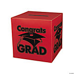 """Congrats Grad"" Red Card Box"