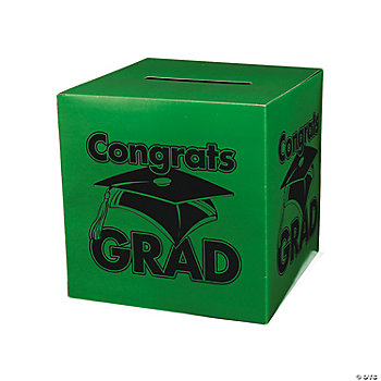 """Congrats Grad"" Green Card Box"