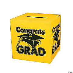 """Congrats Grad"" Yellow Card Box"