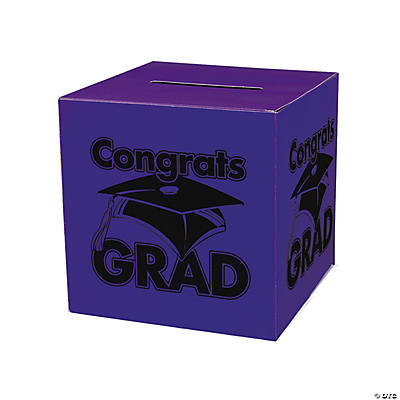 """Congrats Grad"" Purple Card Box"
