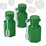 Hexagon Green Bubble Bottles