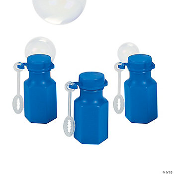 Mini Hexagon Blue Bubble Bottles