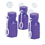 Mini Hexagon Purple Bubble Bottles