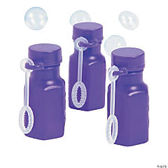 Hexagon Purple Bubble Bottles