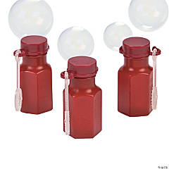 Mini Hexagon Burgundy Bubble Bottles