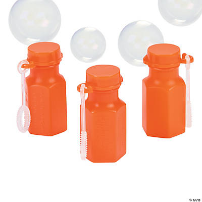 Mini Hexagon Orange Bubble Bottles