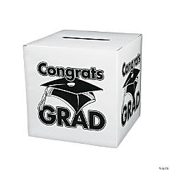 """Congrats Grad"" White Card Box"