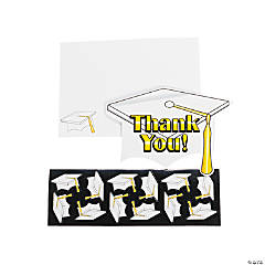 "White Graduation ""Thank You"" Cards"