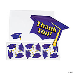 "Purple Graduation ""Thank You"" Cards"