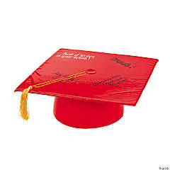 Inflatable Red Autograph Graduation Cap