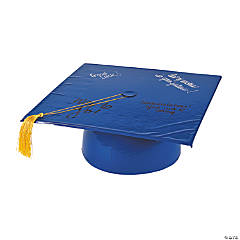 Inflatable Blue Autograph Graduation Cap