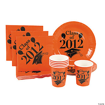 """Class Of 2012"" Orange Tableware"