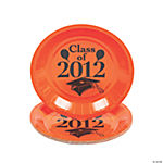 """Class Of 2012"" Dessert Plates - Orange"