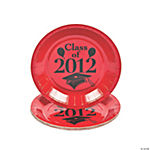 """Class Of 2012"" Dessert Plates - Red"