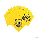 """Class Of 2012"" Beverage Napkins - Yellow"