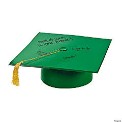 Inflatable Green Autograph Graduation Cap
