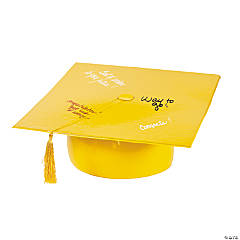Inflatable Yellow Autograph Graduation Cap