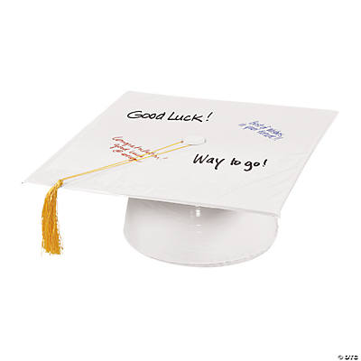 Inflatable White Autograph Graduation Cap