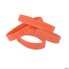 """Class Of 2012"" Orange Bracelets"
