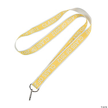 """Class Of 2012"" Yellow Lanyards"