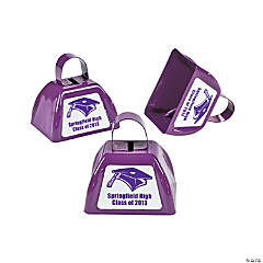 Personalized Purple Graduation Cowbells