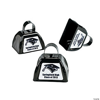 Personalized Black Graduation Cowbells