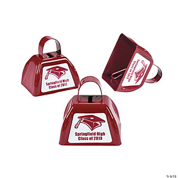 Personalized Burgundy Graduation Cowbells