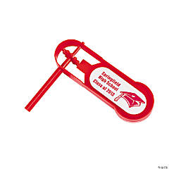 Personalized Giant Red Graduation Noisemakers
