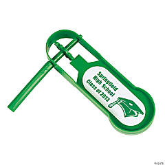 Personalized Giant Green Graduation Noisemakers